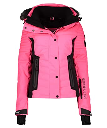 c754490346f Superdry Veste De Ski Luxe Snow Puffer Pink  Amazon.fr  Sports et Loisirs