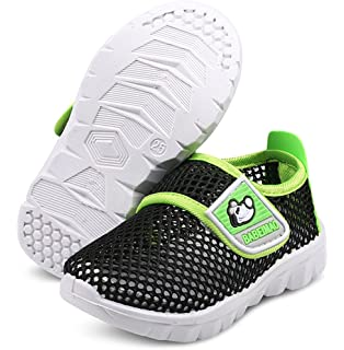 b395493747ad DADAWEN Baby s Boy s Girl s Water Shoes Lightweight Breathable Mesh Running  Sneakers Sandals