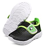 DADAWEN Baby's Boy's Girl's Breathable Mesh Running Sneakers Sandals Water Shoe Black US Size 8 M Toddler