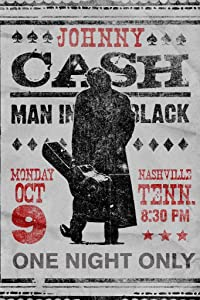Pyramid America Johnny Cash The Man in Black One Night Only Nashville Concert Classic Retro Vintage Country Music Cool Wall Decor Art Print Poster 24x36