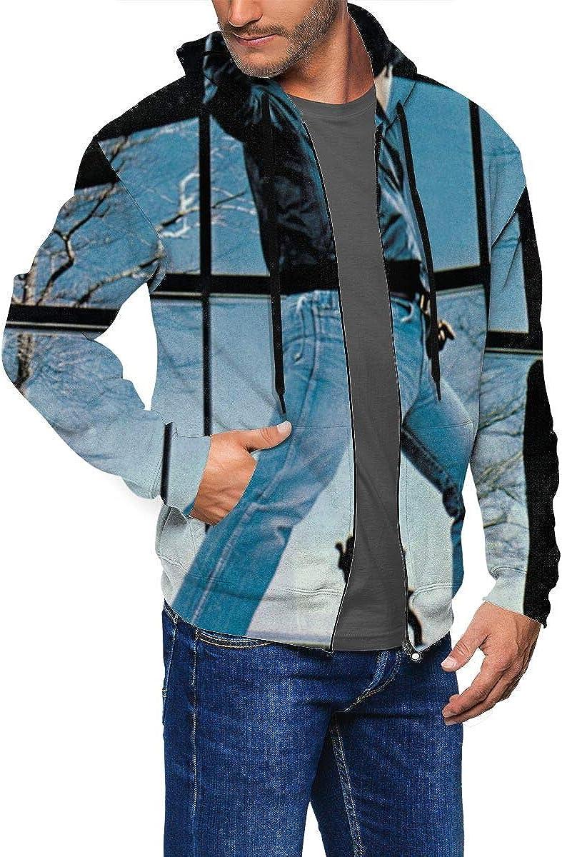DABSON Billy Joel Glass Houses Mens Hoodie Jacket Black