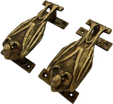 "Vintage Brass Finger Plate Push Door Handle /""PUSH/"" Art Deco Old Mid Century 13/"""