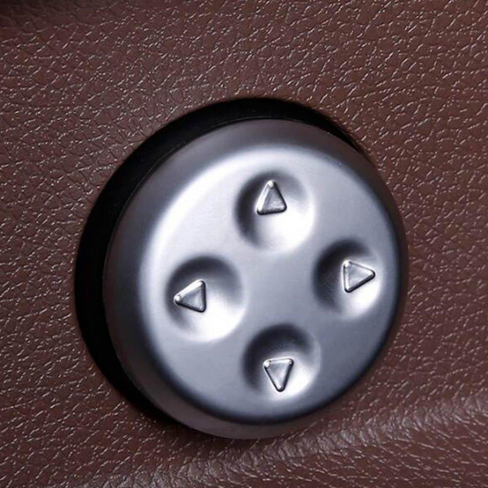 YIKA Car seat adjustment Button Decorative cover For Mercedes Benz GLC new E class C class C200L//E300L//GLC260(2pcs)