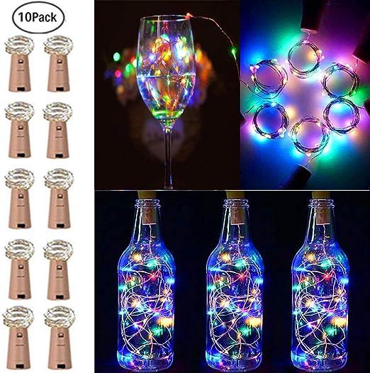 2M 20 LED Wine Bottle Fairy String Light Cork Lamp for Xmas Wedding Multicolour
