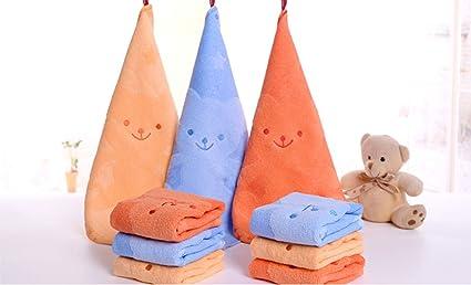 cdycam Juego de 3 dibujos animados los niños toallas de fibra de bambú de lavado toalla