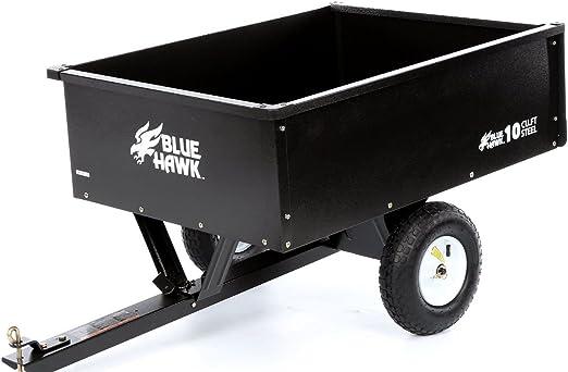 10 CU FT acero Dump carro Wagon Patio jardín césped Tractor cortacésped remolque accesorio: Amazon.es: Jardín