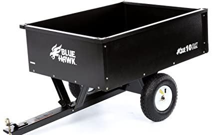 10cu ft steel dump cart garden yard wagon lawn tractor mower trailer attachment - Garden Tractor Trailer