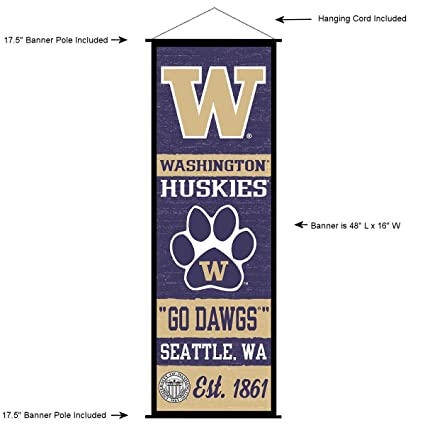 Amazon.com: Washington Huskies Banner y cartel de ...
