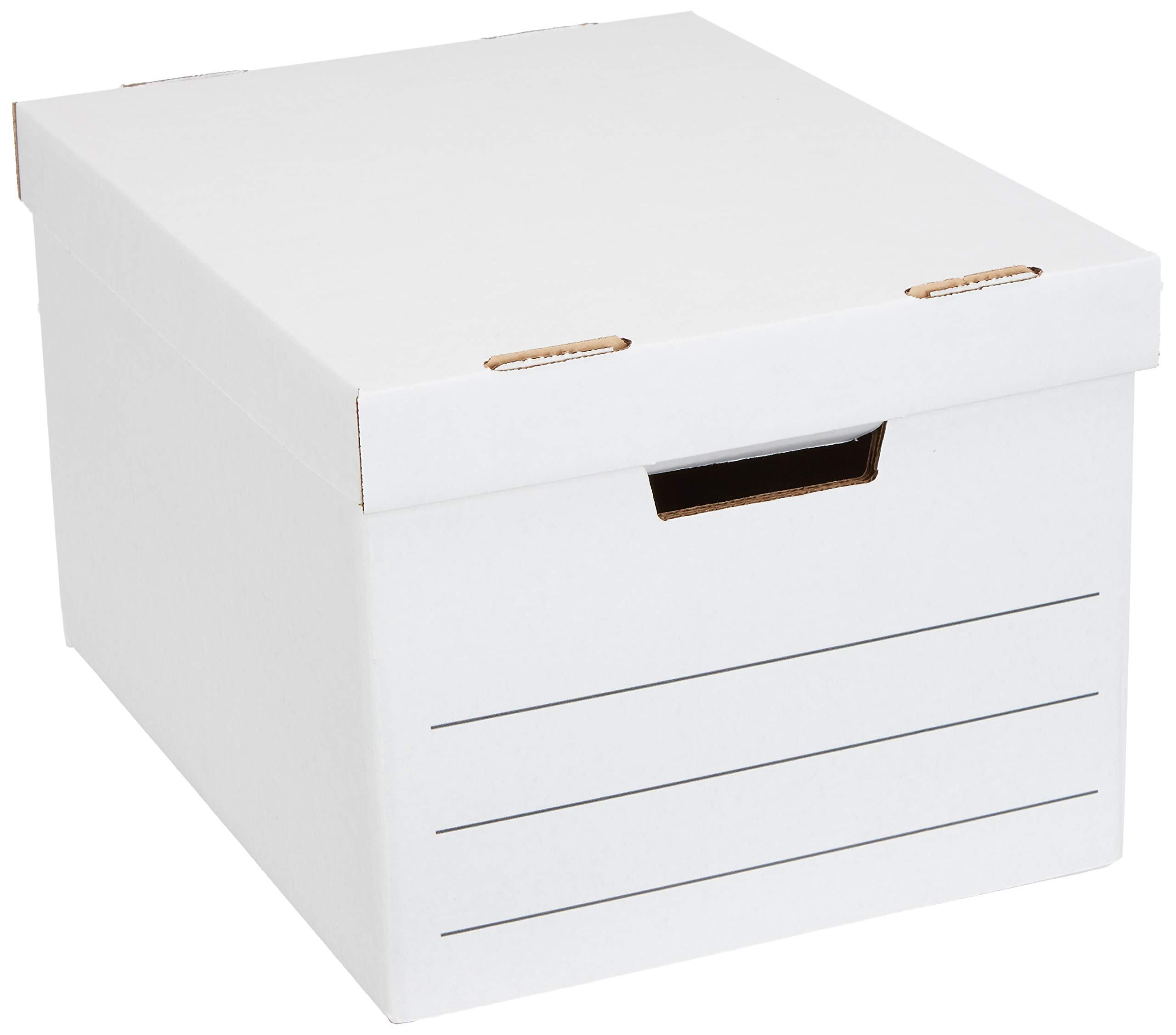 AmazonBasics Heavy Duty Storage Filing Box with Lift-Off Lid - Pack of 12, Letter / Legal Size by AmazonBasics