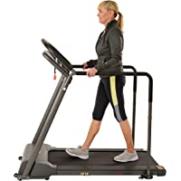 Sunny Health & Fitness Walking Treadmill with Low Wide Deck and Multi-Grip Handrails for Balance, 295 LB Max Weight - SF…