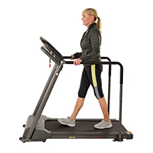Sunny Health & Fitness Walking Treadmill with Low Wide Deck