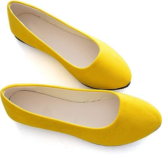 New Womens Lady Designer Comfort Slip On Ballet Flats Many Colors /& Styles