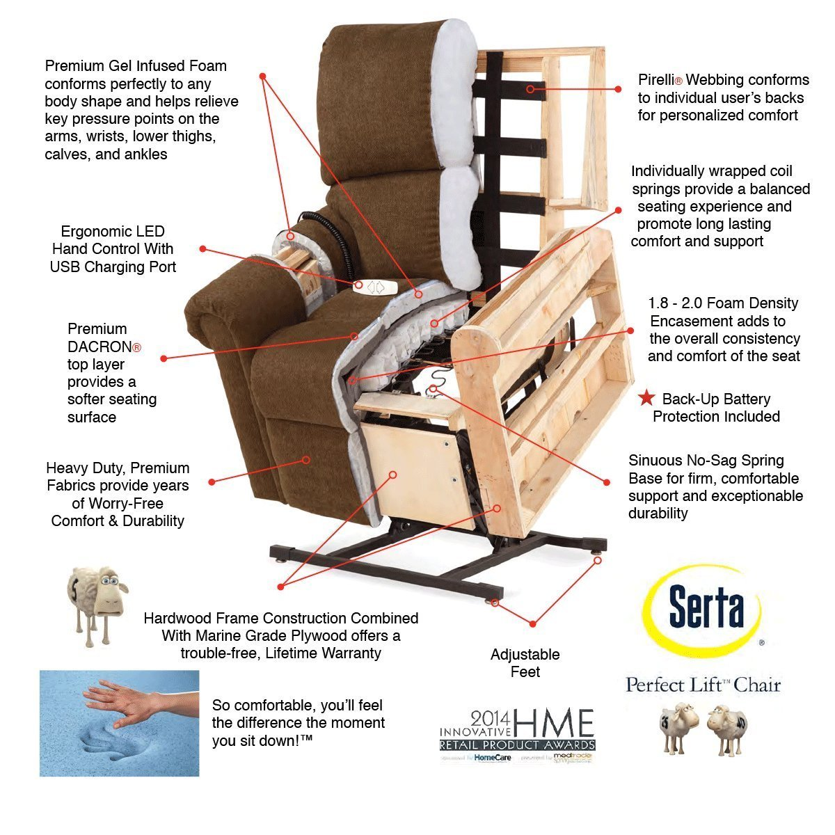 recliner ip chair multiple foam big tall memory massage walmart serta colors com