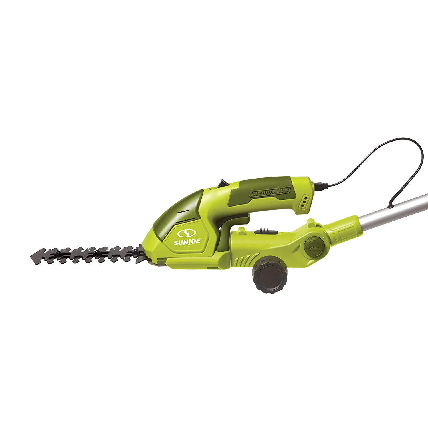 Sun Joe HJ605CC Cordless 2-in-1 Grass Shear Hedge Trimmer w Extension Pole