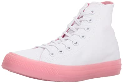8bf024aa21ed Converse Women s Chuck Taylor All Star Candy Coated High Top Sneaker White Cherry  Blossom 5
