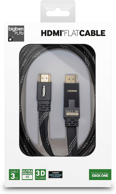 Bigben HQ HDMI-Kabel 1.4 3D 4K UHD Ethernet für HD TV Blu-Ray Xbox One 360 PS4