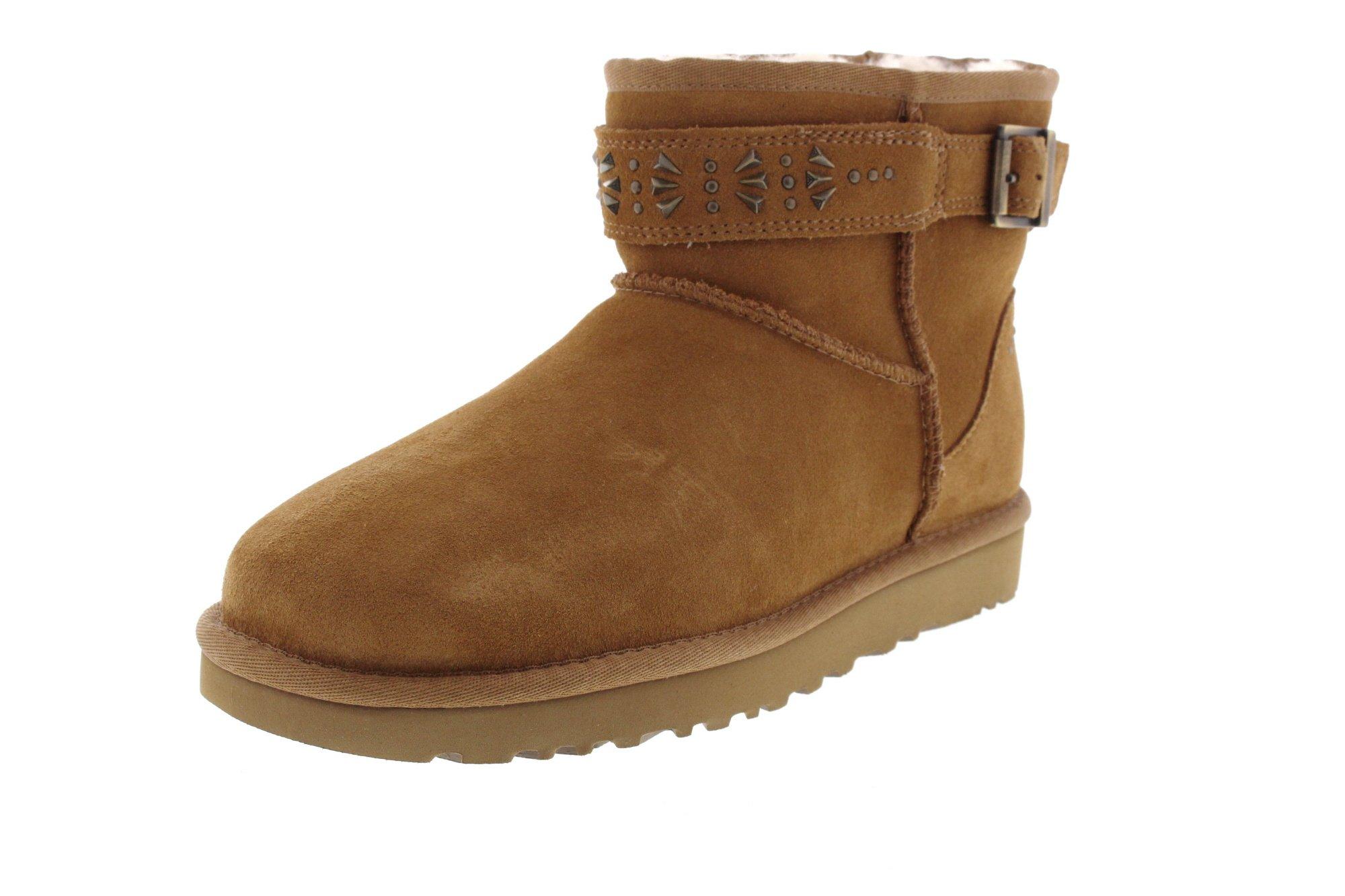 UGG Womens Jadine Shearling boot Chestnut Size 7