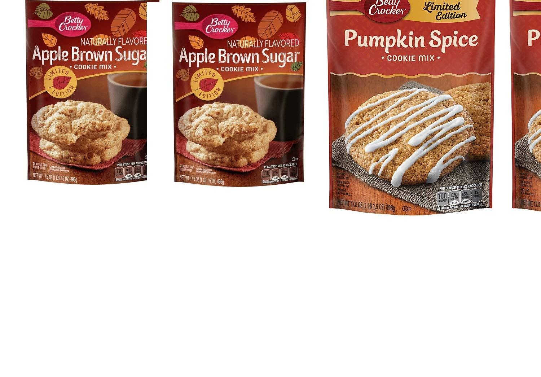 3 Pack Limited Edition Betty Crocker Cookie Mix(2 Apple Brown sugar & 1 Pumpkin Spice)17.5 oz each