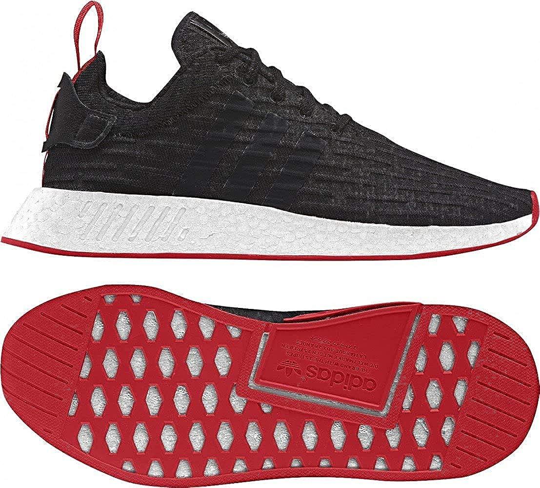 Amazon Com Adidas Nmd R2 Prime Knit Ba72 5 5 Black White Red
