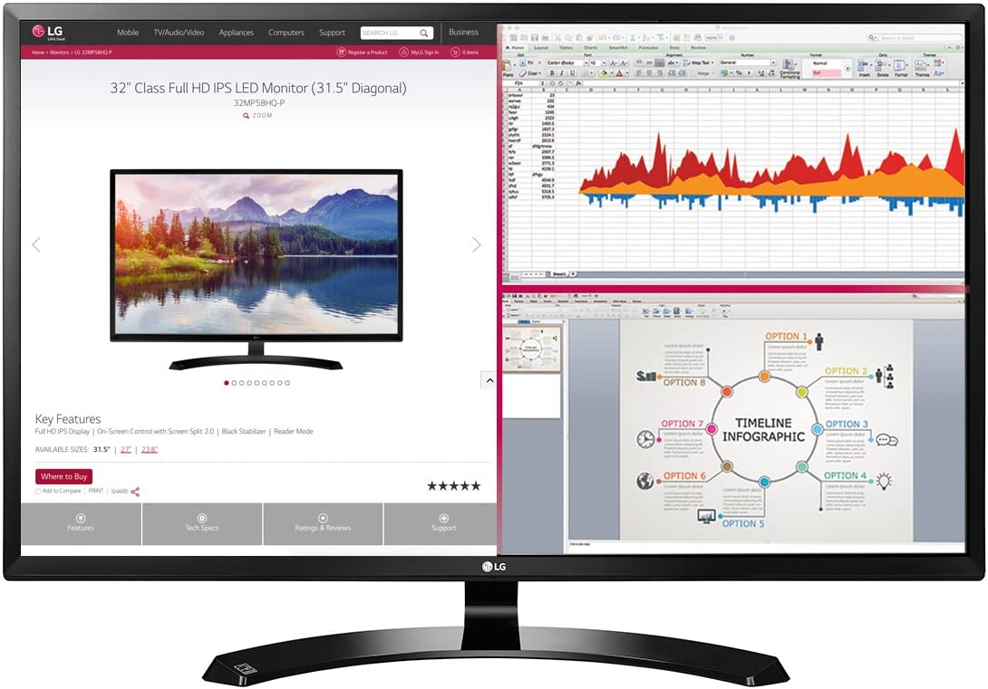 LG 32MA70HY-P 32-Inch Full HD IPS Monitor