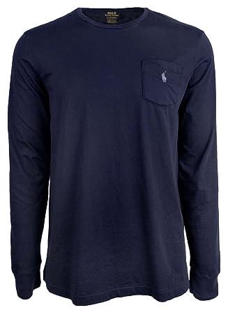 c3164e3b4b2f RALPH LAUREN Polo Custom Slim Fit Cotton Long Sleeve T-Shirt-N-XXL at  Amazon Men's Clothing store: