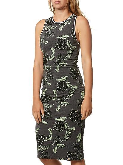 d3935c3f7e Superdry Women's Beach Leaf Midi Dress - Tropical Charcoal MARL ...
