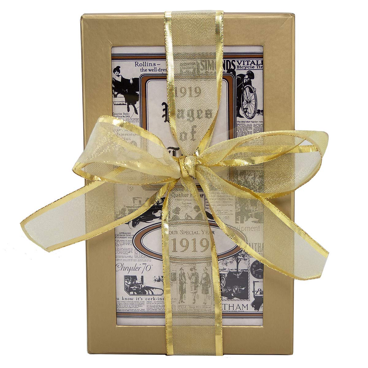 100th Birthday Gift Basket Box with 1919 Trivia Booklet Live Your Life