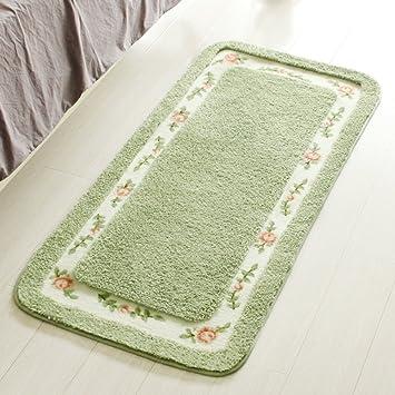 mkkm tapis de chevet de jardin chambre tapis tapis salle de bains slick absorbeurs d - Tapis Vert D Eau