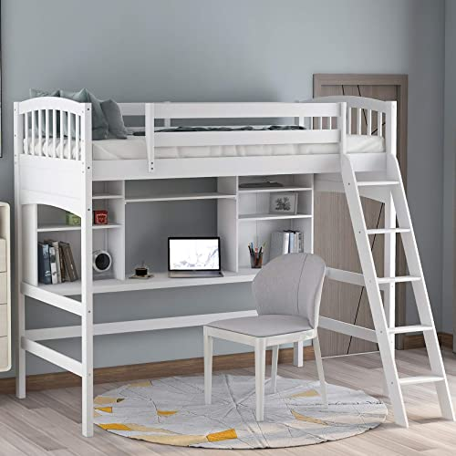 Harper Bright Designs Twin Loft Bed