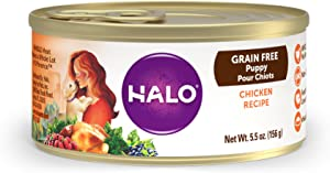 Halo Grain Free Natural Wet Dog Food, Small Breed Recipe, 5.5oz. Can (Pack of 12)