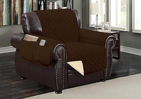 Sofa divano per mobili reversibile coffee tan sedia: amazon.it