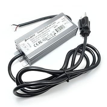Amazon hitlights 40 watt led light strip power supply hitlights 40 watt led light strip power supply waterproof 33 amps 110v ac mozeypictures Choice Image