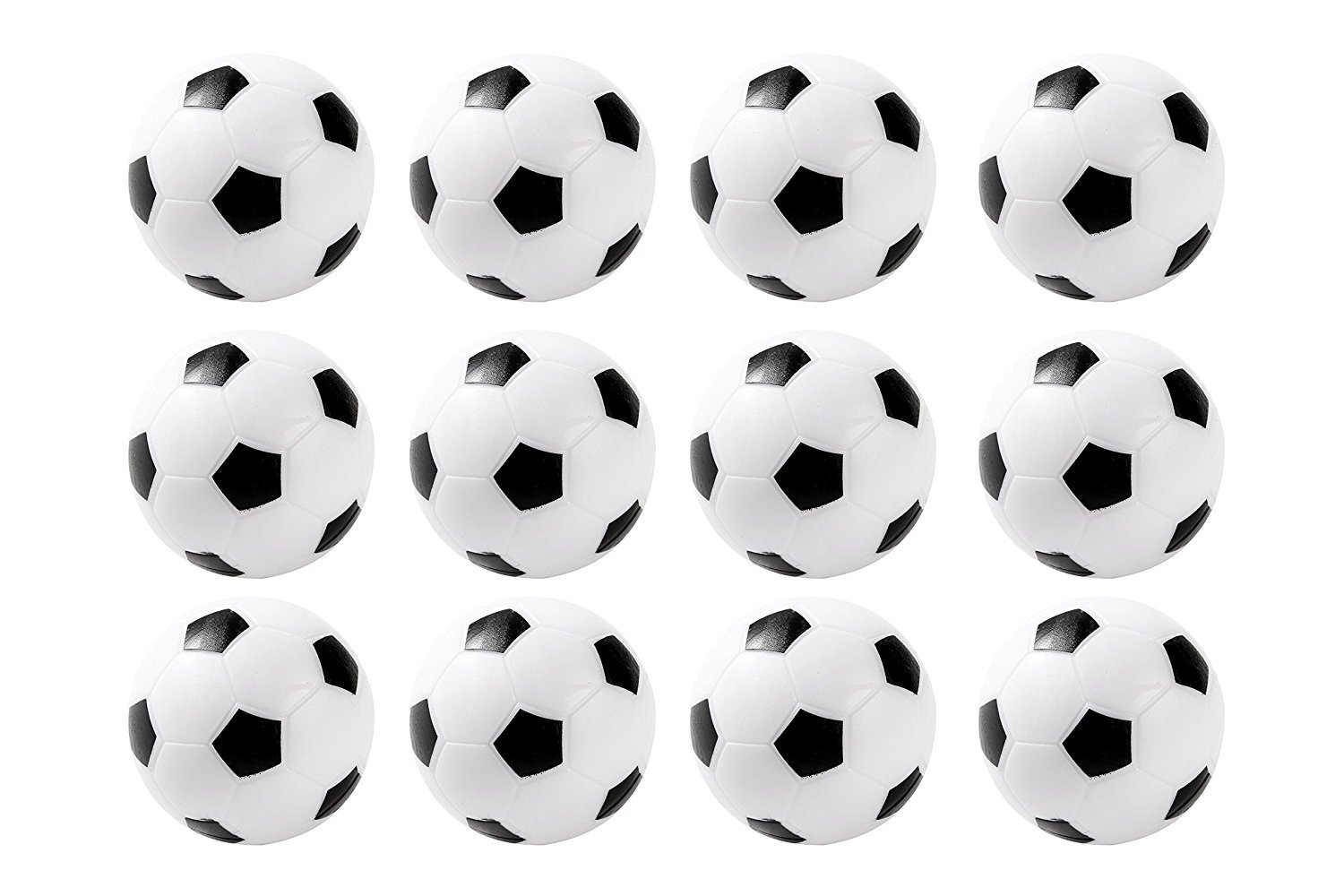 BESTIM INCUK 36mm Table Soccer Foosballs Replacements Mini Football Balls, Black and White, Set of 12