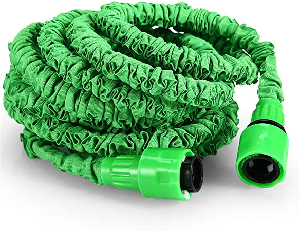 RBH Manguera de jardín, Manguera de Limpieza de automóviles Tubería de Agua de 50 pies Pipa de Agua Extensible 3 Veces, con Pistola de 7 Funciones para Jardines, automóviles, Mascotas: Amazon.es: Hogar