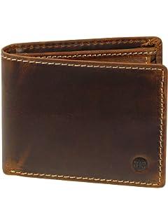 c8ab0bf62e048 Harrys-Collection sehr robuste Echtleder Börse im Vintage Look mit RFID  Schutz