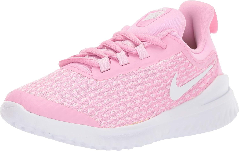Nike Girls Rival Running Shoe Pink Rise//White//Pink Foam Size 2 M US