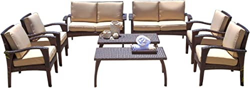 Christopher Knight Home Waikiki Outdoor Wicker Seating Set and Cushion