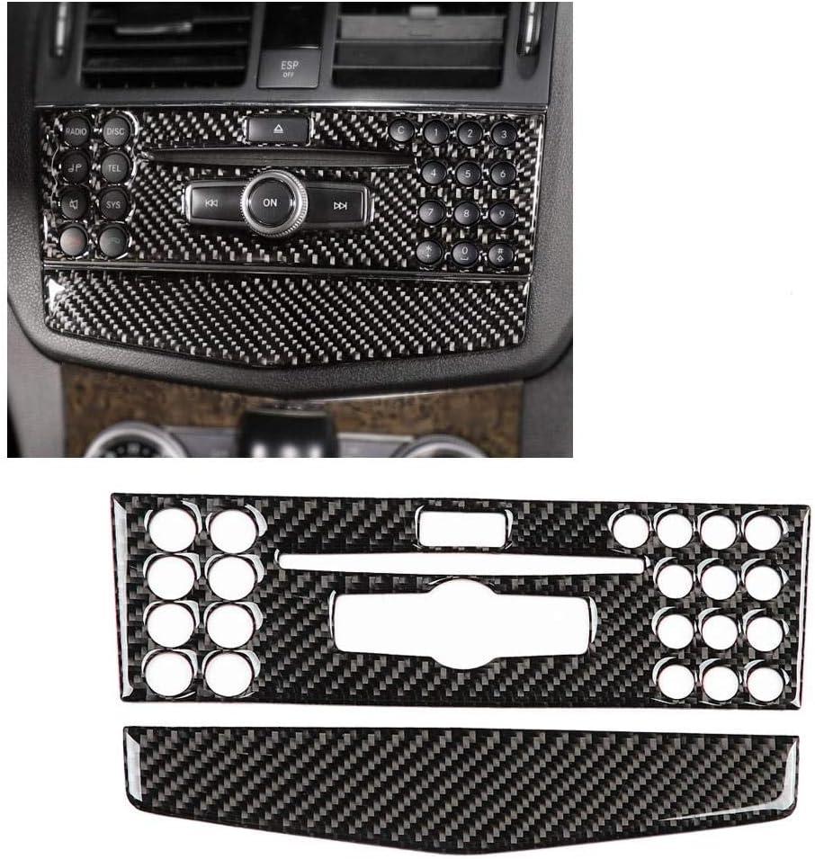 Duokon Carbon Control Panel Frame Auto Interieur dekorative Abdeckung Zierleiste f/ür C Klasse Linkslenker A