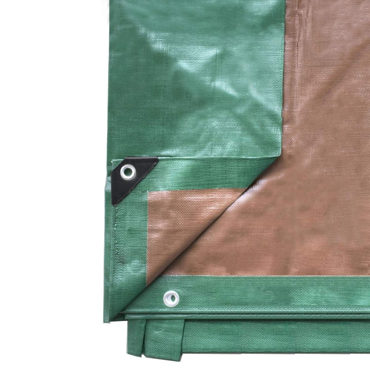 30-Foot by 50-Foot Green and Brown Reversible Multi-Purpose Waterproof Poly Tarp Cover for Tents and Weather Protection by Tent and Table