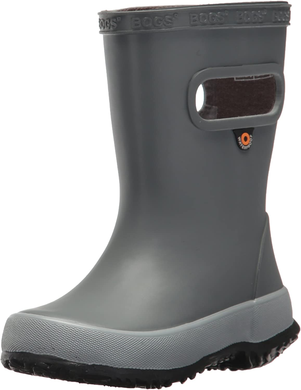 BOGS Kids' Skipper Waterproof Rubber Rain Boot for Boys and Girls