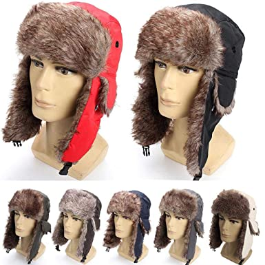 f8a2c8b1 Unisex Bomber Hats Waterproof Winter Warm Aviator Hat with Earflap  Collection Trooper Trapper Hunting Hat Aviator Winter at Amazon Men's  Clothing store: