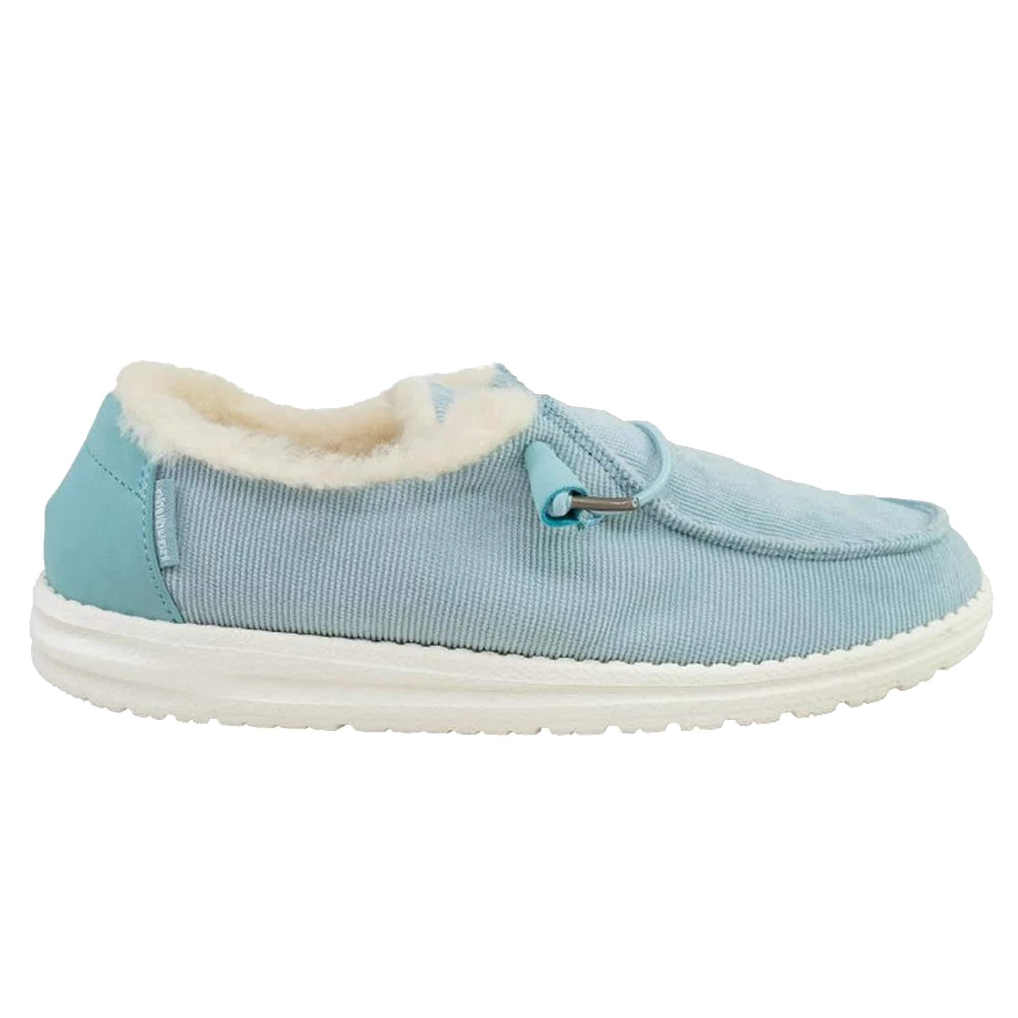 Hey Dude Womens Wendy Corduroy Shoes (5, Aqua) by Hey Dude