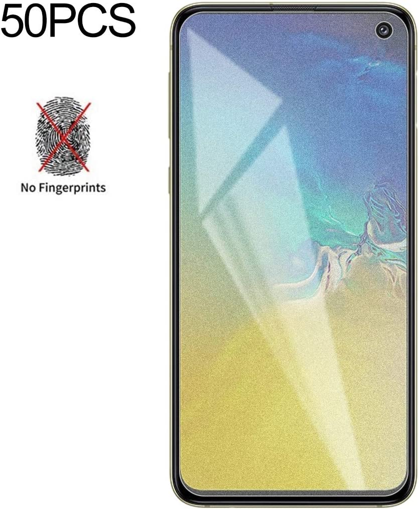 Wangl Mobile Phone Tempered Glass Film 50 PCS Non-Full Matte Frosted Tempered Glass Film for Galaxy S10e No Retail Package Tempered Glass Film