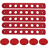 Grab Handle Inserts Cover+Push Button Knobs Cover Trim for 2007-2018 Jeep Wrangler JK & Unlimited 5PCS RED