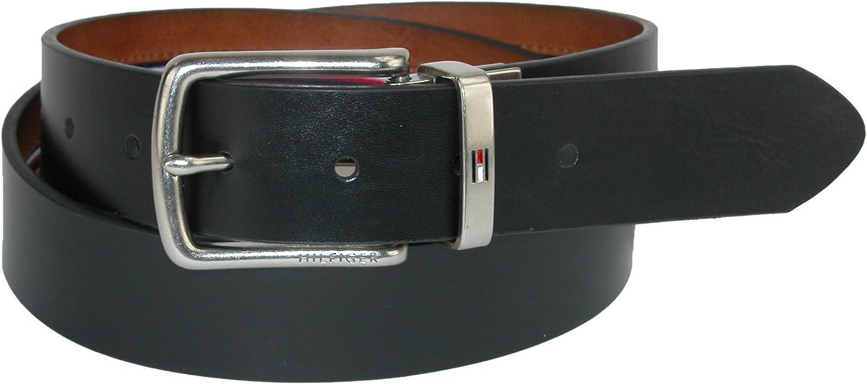 Tommy Hilfiger Cintura di jeans reversibile con cintura per uomo