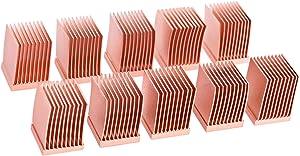 Alphacool 17426 GPU RAM Copper Heatsinks 10x10mm - 10pcs Air Cooling Passive Coolers