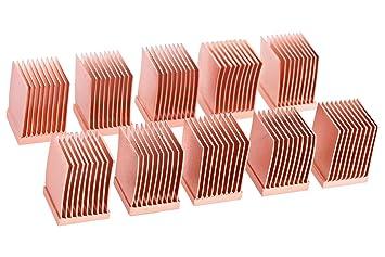 Amazon.com: Alphacool GPU RAM disipadores de cobre, 10 x 10 ...