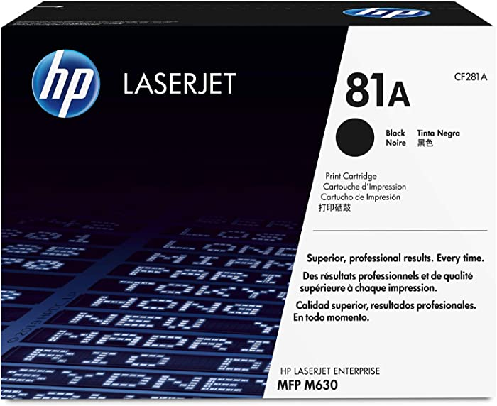 HP 81A | CF281A | Toner Cartridge | Black