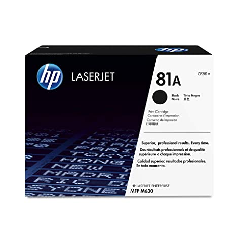 Toner Black 81APages 10.500 Laser Printers at amazon
