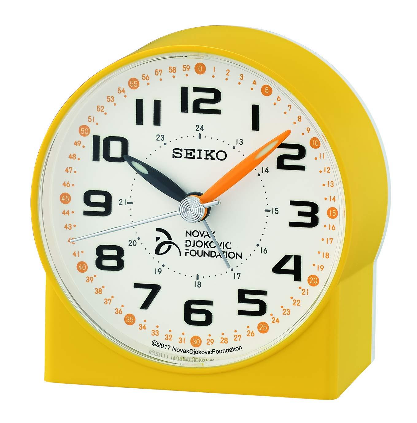Kunststoff Seiko Wecker gelb 8.2 x 7.8 x 4.3